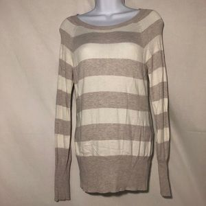 MOSSIMO STRIPED LONG SLEEVED SWEATER